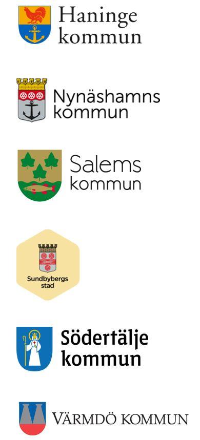 Haninge, Nynäshamn, Salem, Sundbyberg, Södertälje, Värmdö